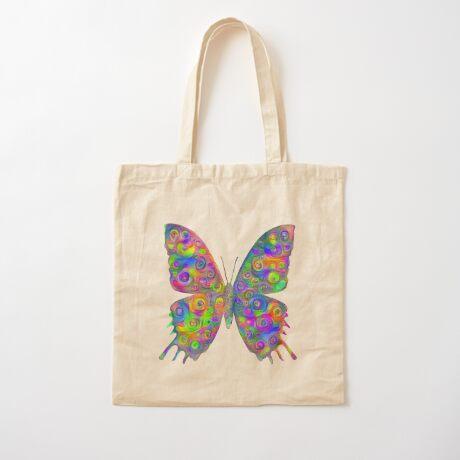 #DeepDream Motley Butterfly Cotton Tote Bag