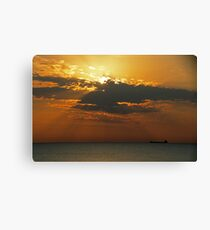 Morning Freighter Canvas Print