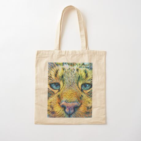 #DeepDreamed Cat v1449127170 Cotton Tote Bag