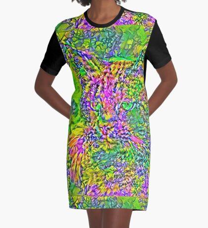 Artificial neural style Flower cat Graphic T-Shirt Dress
