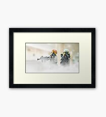Lego Bank robbers Framed Print