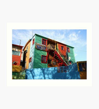 La Boca artists' colony Art Print