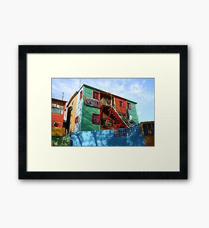 La Boca artists' colony Framed Print