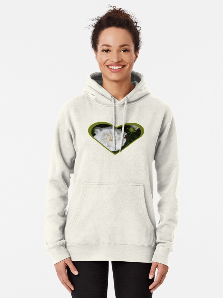 Alternate view of Romantic Night ~ Scent of Gardenias Pullover Hoodie