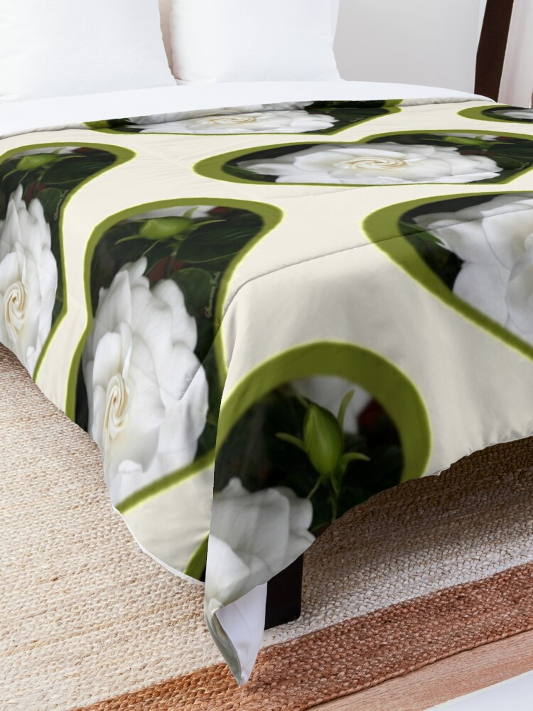 Alternate view of Romantic Night ~ Scent of Gardenias Comforter