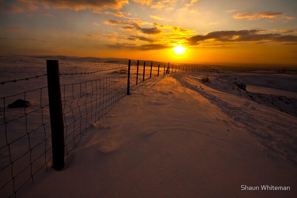 Golden sunset over the Derbyshire hills by Shaun Whiteman