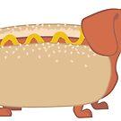 Hotdog Dog by Veronica Guzzardi