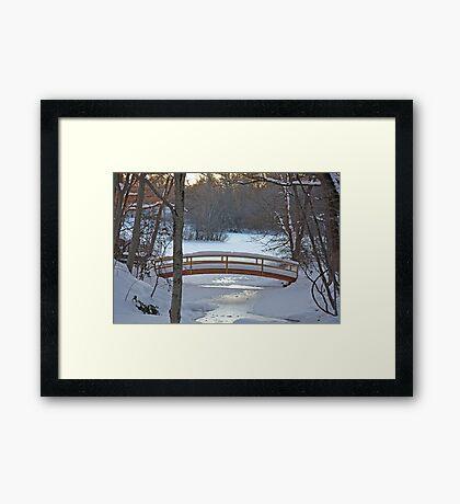 Winter Bridge Framed Print