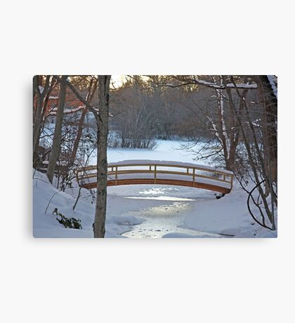 Winter Bridge Canvas Print