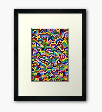 JUST WHAT - WITH BRUSH AND GOUACHE Framed Print