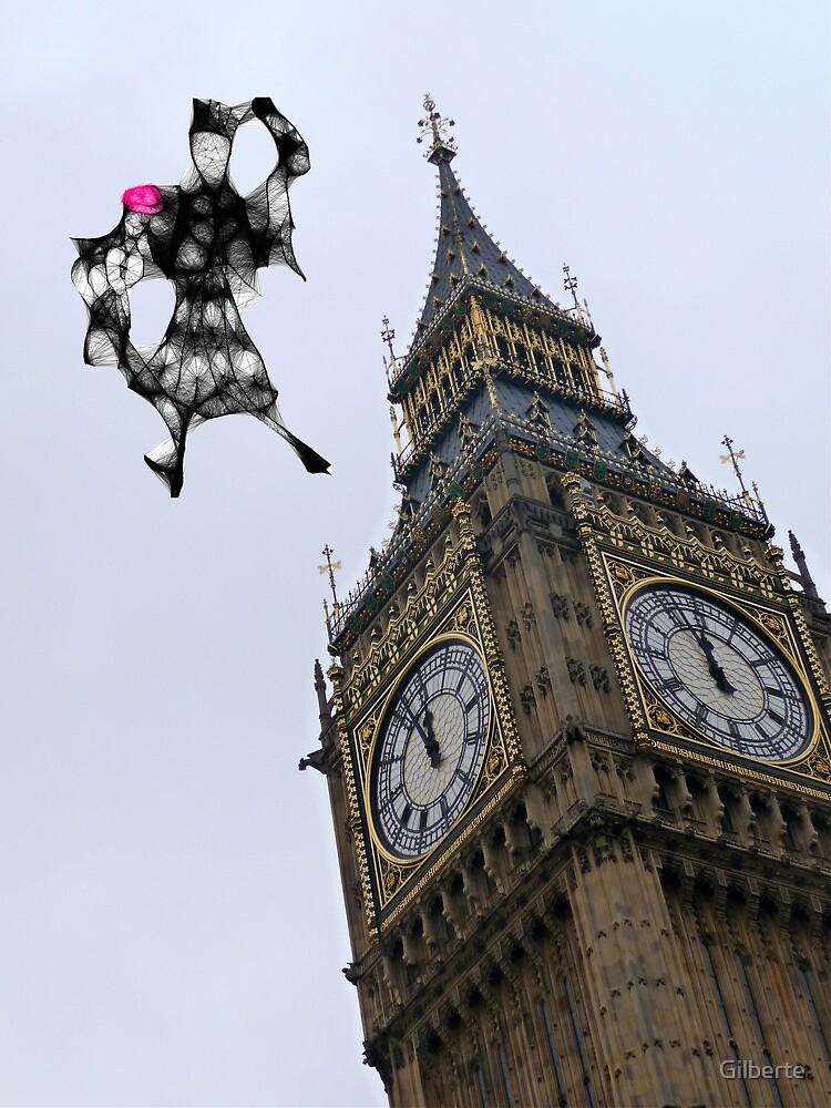 Mary Poppins  landing in London. by Gilberte