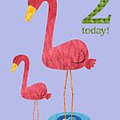 Age Two Flamingo by Fiona Reeves