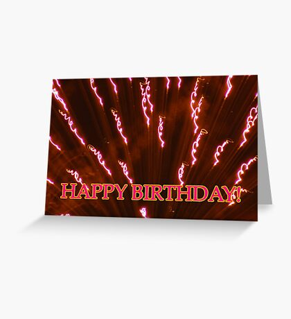 explosion happy b-day card Greeting Card