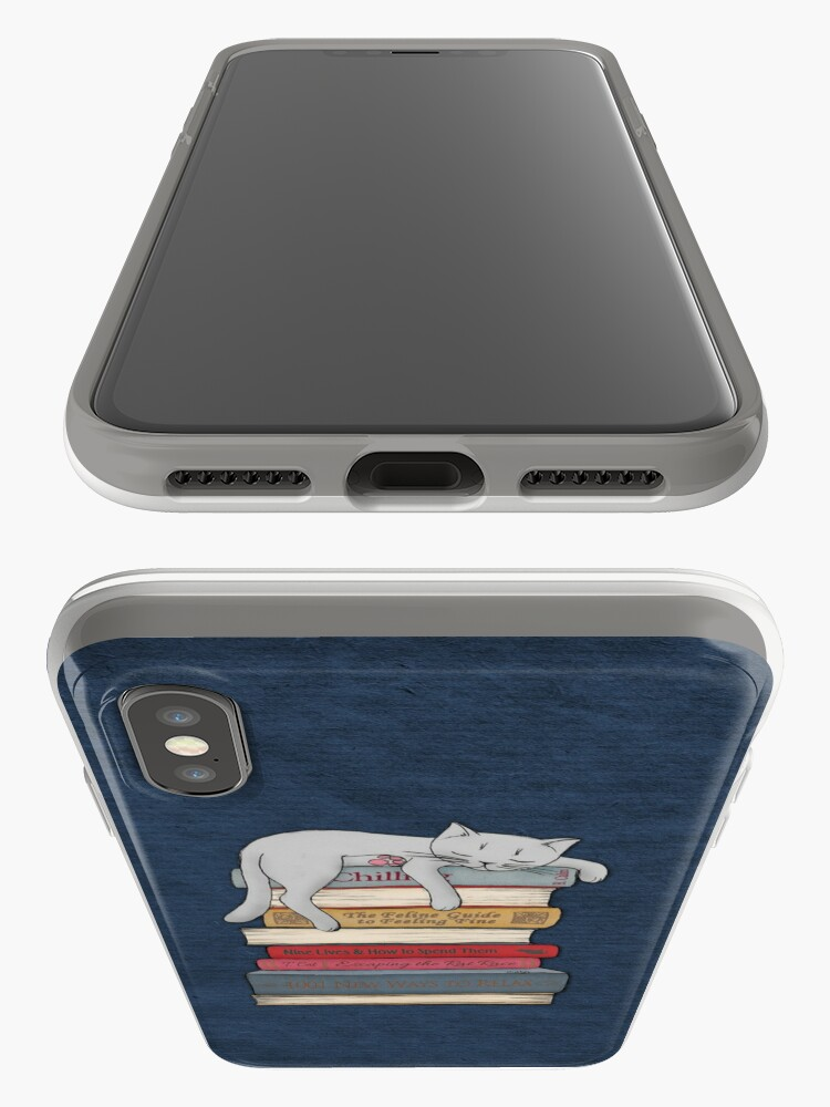 Alternate view of How to Chill Like a Cat iPhone Case & Cover