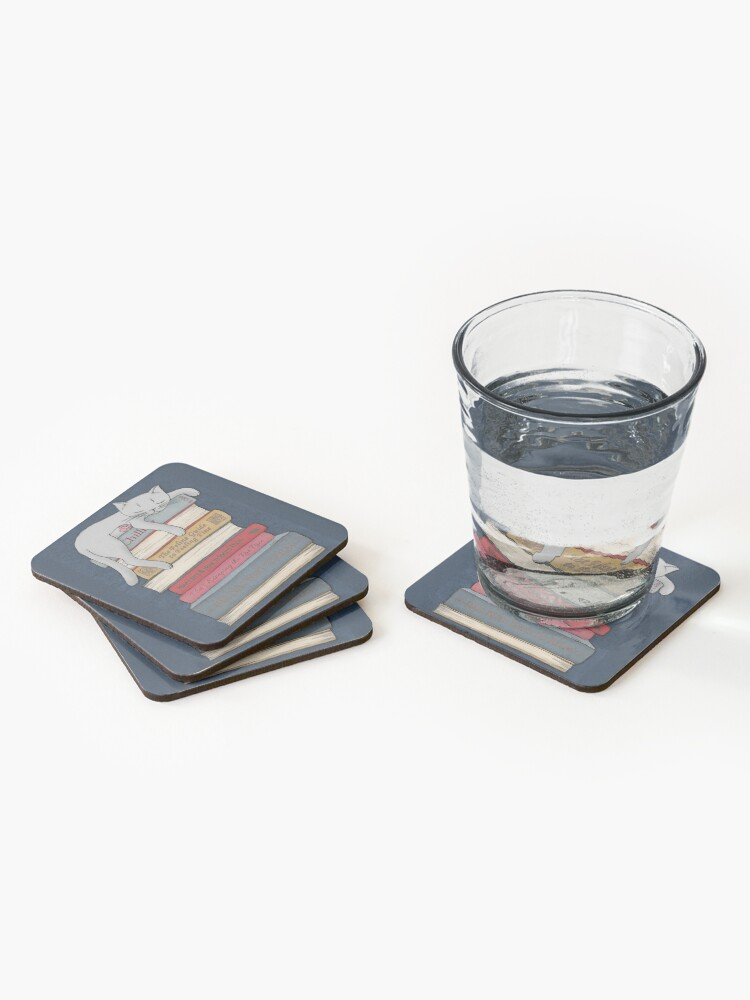 Alternate view of How to Chill Like a Cat Coasters (Set of 4)