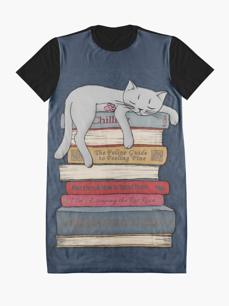 Alternate view of How to Chill Like a Cat Graphic T-Shirt Dress