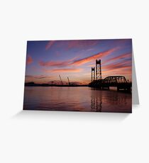 Jordan Bridge Sunset Greeting Card