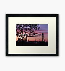 Jordan Bridge Sunset Framed Print
