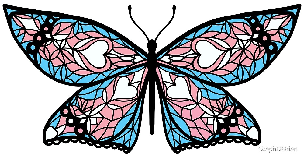 Fly With Pride: Transgender Flag Butterfly by StephOBrien