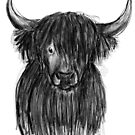 schottisches Hochlandrind  von Watercolotta
