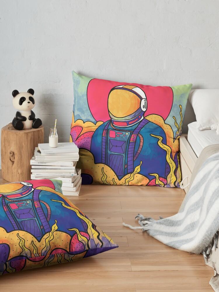 Alternate view of The planet explorer Floor Pillow