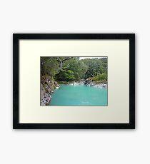 Glacial Melt Water - Dart River Framed Print