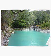 Glacial Melt Water - Dart River Poster