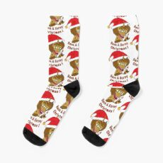"""Maury the Hormone Monster """"Have A Horny X-mas"""" - Big Mouth Socks"""