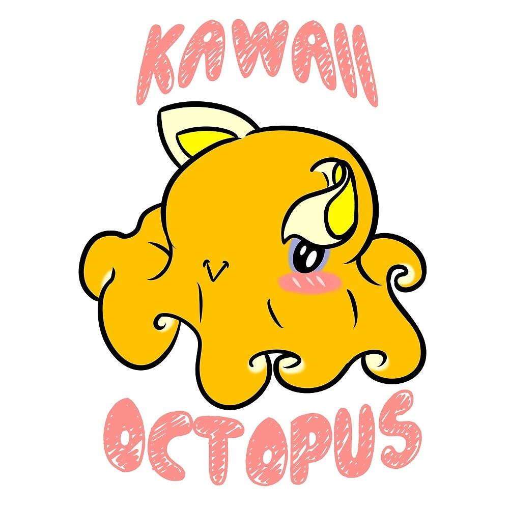 Kawaii Octopus by Chris Bryer