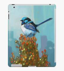 Blue Wren on Bush iPad Case/Skin
