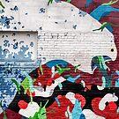 Brick wall as art canvas von Celeste Mookherjee