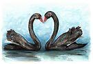Black Swan Pair by Meaghan Roberts