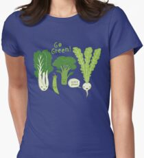 Go Green! (Leafy Green!) Womens Fitted T-Shirt