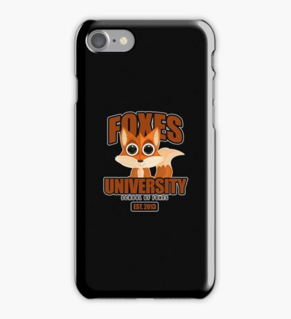 Foxes University  2 iPhone Case/Skin