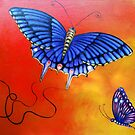 Butterflies at Sunset by Brita Lee