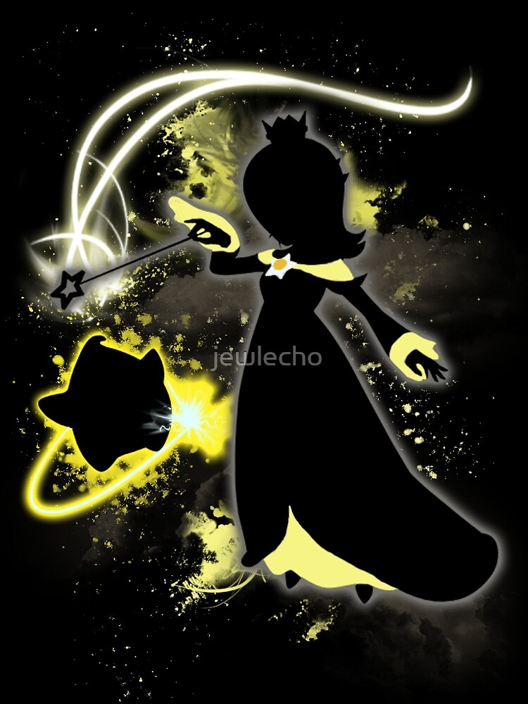 Super Smash Bros. Black/Yellow Rosalina Silhouette by jewlecho