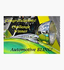 Automotive BLING Challenge Winner Banner Photographic Print