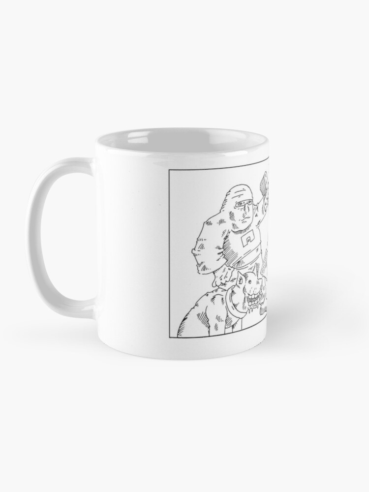 Alternate view of Ninja toothpaste clown dog Mug