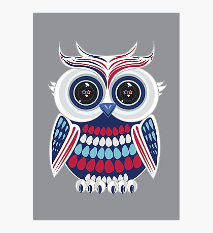 Patriotic Owl Photographic Print