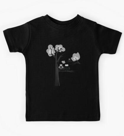 Black & White Owls Kids Clothes