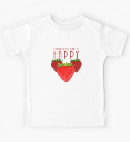Strawberries Make Me Happy Kids Clothes