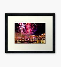 NYE: Fireworks Firestorm Framed Print