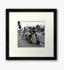 St. Kilda streetscape Framed Print