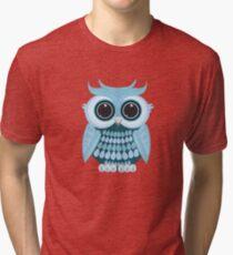 Baby Blue Owl Tri-blend T-Shirt