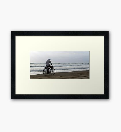 Baylys Beach bikey Framed Print