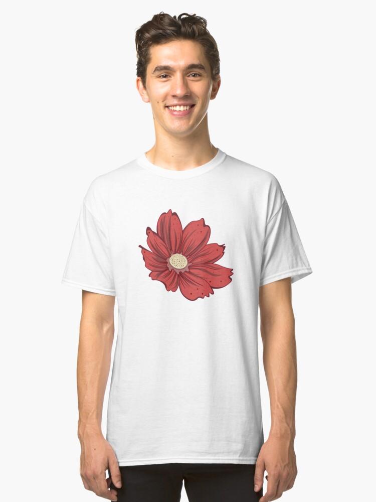 Reddish Flower Classic T-Shirt Front