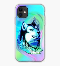 Husky Aurora Borealis Dream iPhone Case
