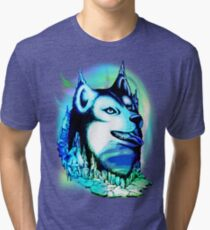 Husky Aurora Borealis Dream Tri-blend T-Shirt