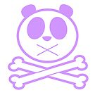 Panda Cross Bone - Purple by Adamzworld
