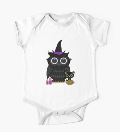 Black Owl Witch Kids Clothes